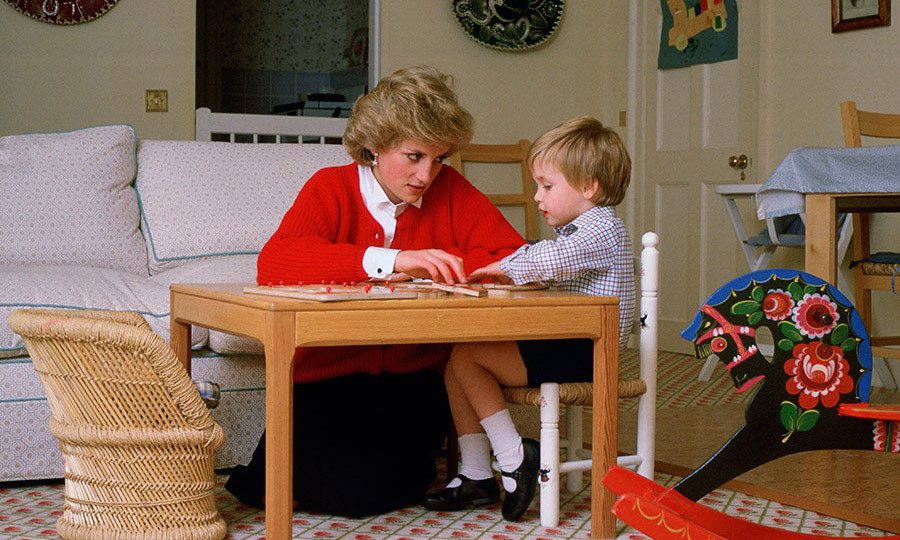 <p><strong>Kensington Palace</strong></p><p>Throughout her sons' childhood, Princess Diana was often pictured at home, playing with her boys and generally doting on them. This photo, taken in October 1985 when Prince William was three, showed the late Princess helping her son with a puzzle in their Kensington Palace playroom.&nbsp;</p><p>Photo: &copy; Getty Images</p>