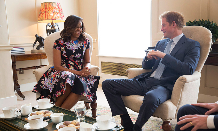"<p><strong>Kensington Palace</strong></p><p>In 2015, royals watchers were again given a sneak peek into Kensington Palace when Prince Harry, who lives at Nottingham Cottage, invited <strong><a href=""/tags/0/michelle-obama/"">Michelle Obama</a></strong> for tea. The former US First Lady was travelling with her daughters, Malia and Sasha and her mother, Mrs. Marian Robinson, to continue a global tour promoting her Let Girls Learn Initiative.</p><p>Photo: &copy; Getty Images</p>"