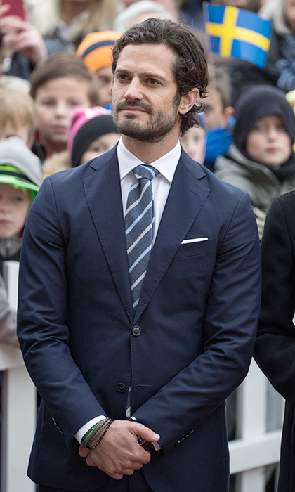 Carl Philip always maintains a strong hair game. 