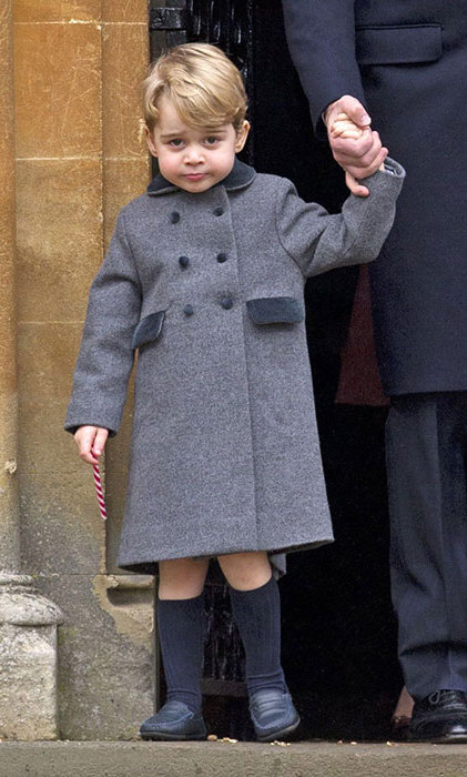 Prince George pictured in a £120 coat by Pepa and Co.