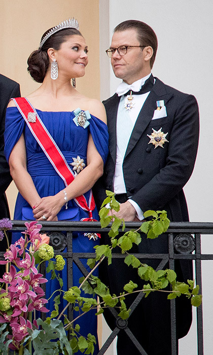 Crown Princess Victoria of Sweden and her husband Prince Daniel.