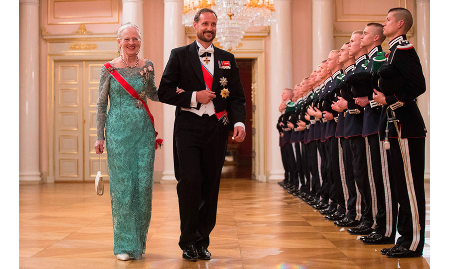 Queen Margrethe of Denmark and Prince Haakon of Norway. 