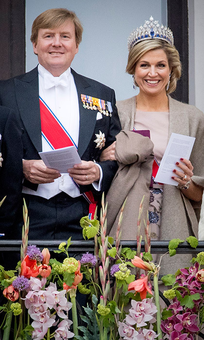 Maxima wore the Royal Family's stunning Dutch Sapphire Tiara.