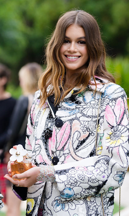 Kaia Gerber was announced as the brand ambassador for Daisy Marc Jacobs in March