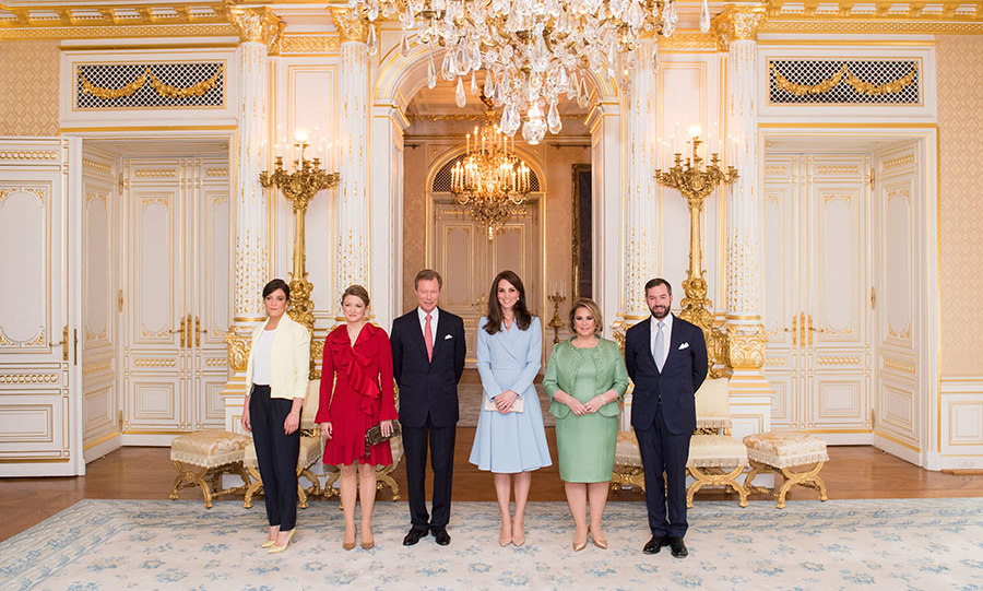 Kate met the Grand Duke and Grand Duchess at the palace, alongside Princess Stephanie and Hereditary Grand Duke Guillaume of Luxembourg.