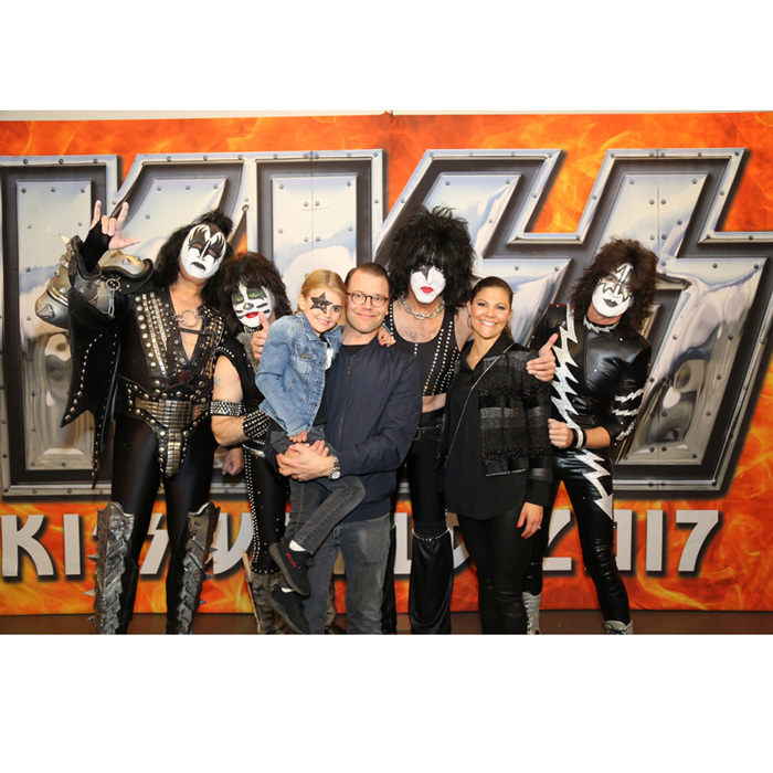 The royal family met KISS during their concert in Sweden on May 6