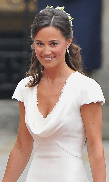 Pippa Middleton attends Prince William and Kate's wedding at Westminster Abbey in 2011.