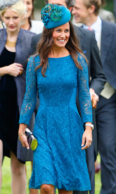 Pippa Middleton attending a friend's wedding.