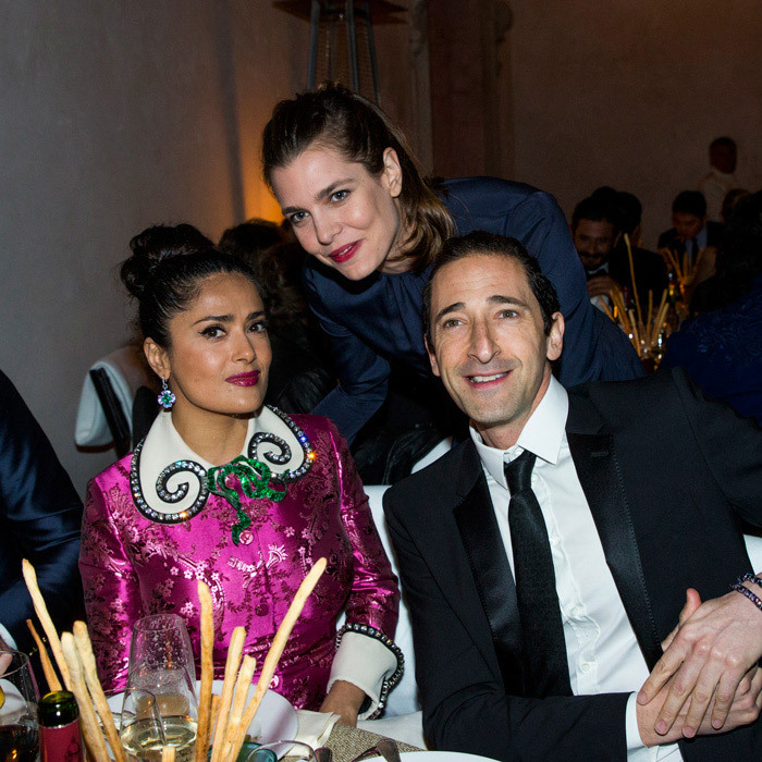 Charlotte mingled with Salma Hayek during a recent trip to Italy with her boyfriend.