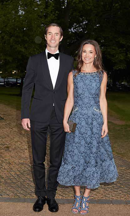 Pippa Middleton and her fiancé, James Matthews arrive at Disability Snowsport UK's ParaSnowBall at London's Hurlingham Club. 