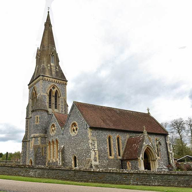 St Marks' Church in Englefield, Berkshire, where Pippa Middleton and James Matthews will marry.
