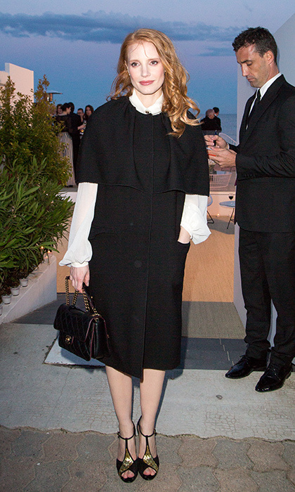 At the <em>Vanity Fair</em> Chanel party, 2013