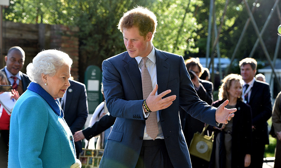 The Queen and Prince Harry attend the Chelsea Flower Show.