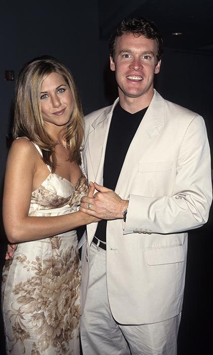 <h2>Tate Donovan and Jennifer Aniston</h2>