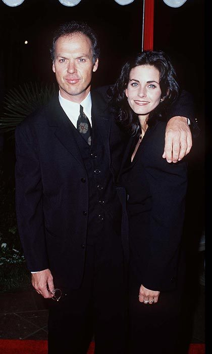 <h2>Michael Keaton and Courteney Cox</h2>