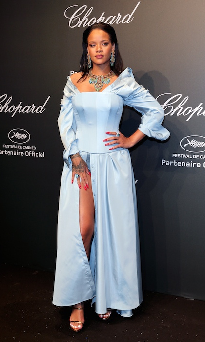 After owning the red carpet in Dior at the premiere of <em>Okja</em>, Rihanna was back on the party circuit showing off her jewels at Chopard's SPACE bash. 