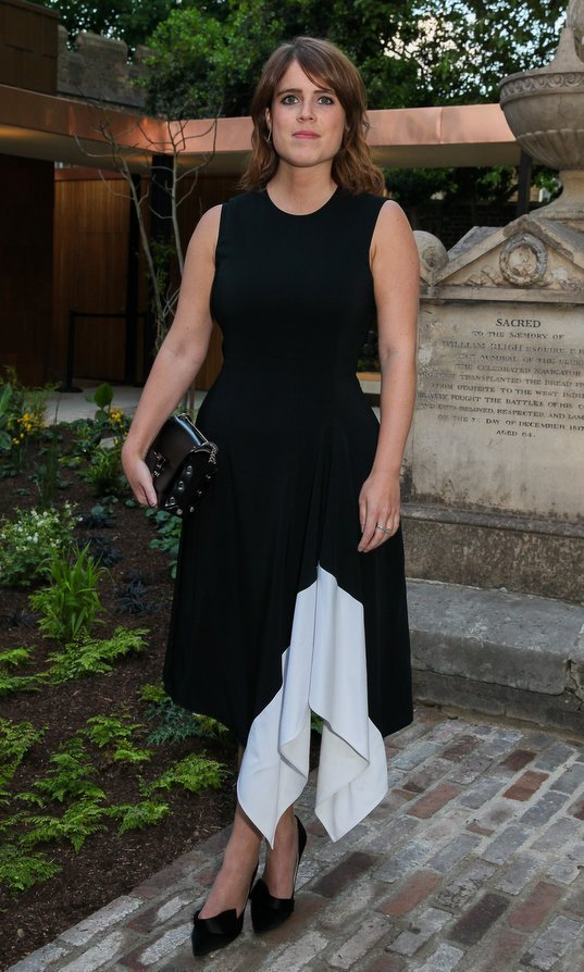 Princess Eugenie continued her style streak at the Jimmy Choo & Mytheresa.com dinner at The Garden Museum in London.