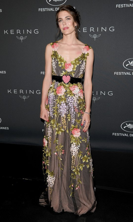 Princess Caroline's daughter wore a beautifully embroidered Gucci creation – complete with heart-shaped belt detail – to the Women in Motion Awards Dinner at Place de la Castre in Cannes.