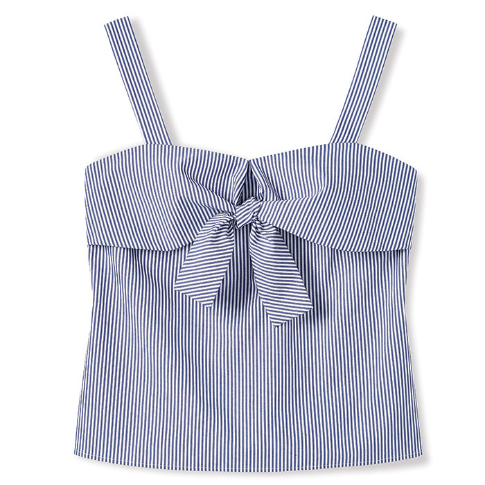<p>Sleeveless Striped Blouse, $43, <em>reitmans.com</em></p>