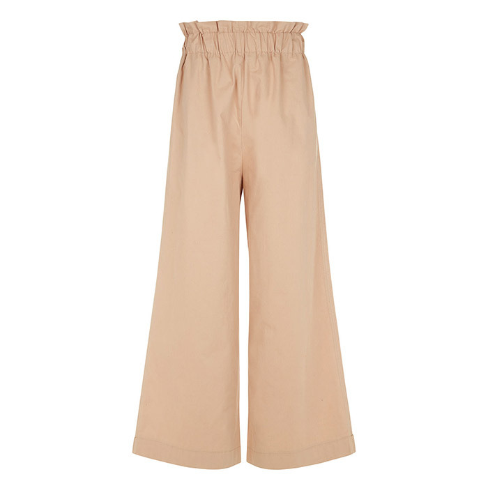 <p>Ganni Cuban Sand Phillips Paperbag Trousers in Beige, $268, <em>avenue32.com</em></p>