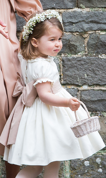 Princess Charlotte stole the show at her Aunt Pippa's wedding in an adorable bridesmaid dress by  Pepa & Company.