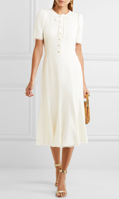 The white Middleton dress