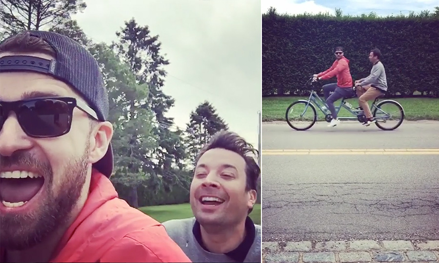 <h2>Justin Timberlake + Jimmy Fallon</h2>