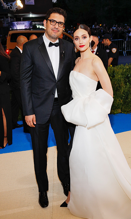 <h3>Emmy Rossum and Sam Esmail</h3>