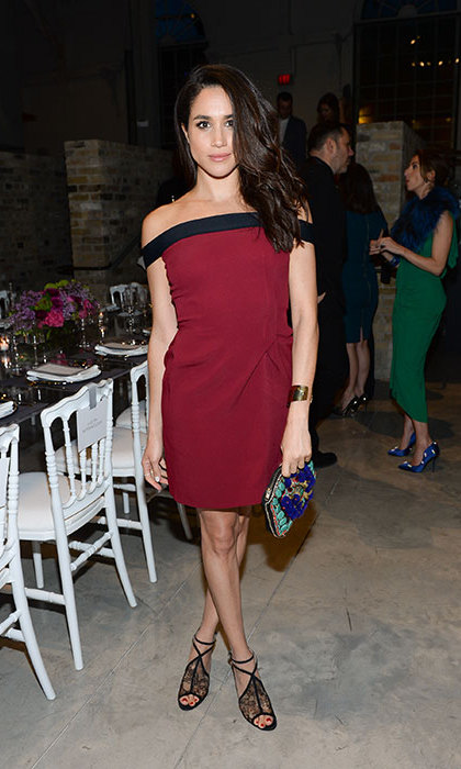 The 35-year-old actress typically opts for block colours and form-fitting dresses when it comes to eveningwear