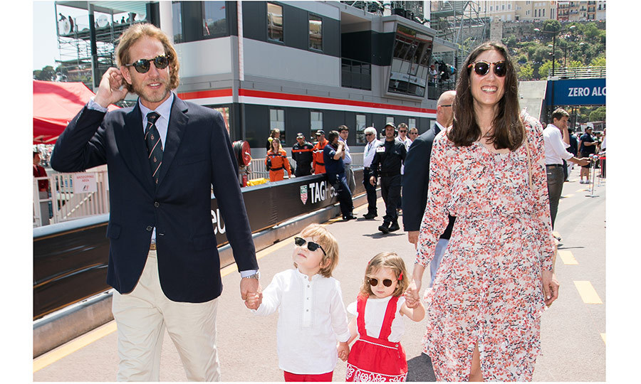 Little royals India and Alexandre wore matching sunglasses with their dad and mom Andrea and Tatiana Casiraghi as they strolled the sidelines at the F1 race in Monaco.