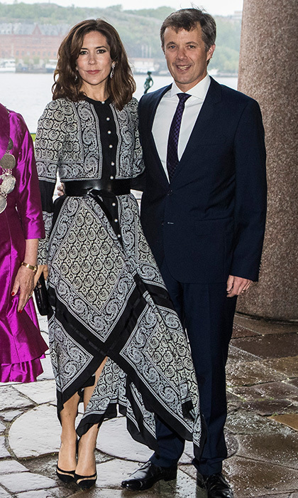 On May 30, Crown Princess Mary wore a flowy Altuzarra 'Winnie' dress – a look that Michelle Obama donned during a trip to Morocco.