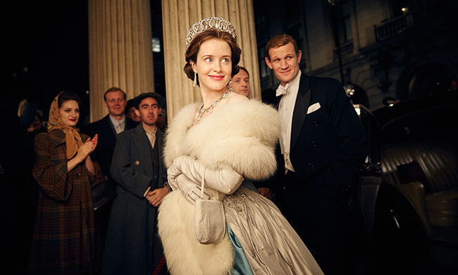 Claire Foy depicts the young Queen in The Crown.