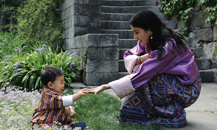 In celebration of Her Majesty Queen Jetsun Pema of Bhutan's 27th birthday on June 4, the palace released a new photo of the royal posing with her adorable one-year-old son. 