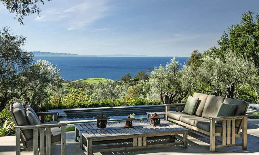This idyllic spot at the rear of the house is situated near to the small swimming pool, with breathtaking views out to the sea. Natalie's home is close to Santa Barbara and the Californian coastline, so she will be able to enjoy plenty of trips to the beach with her family should she desire.