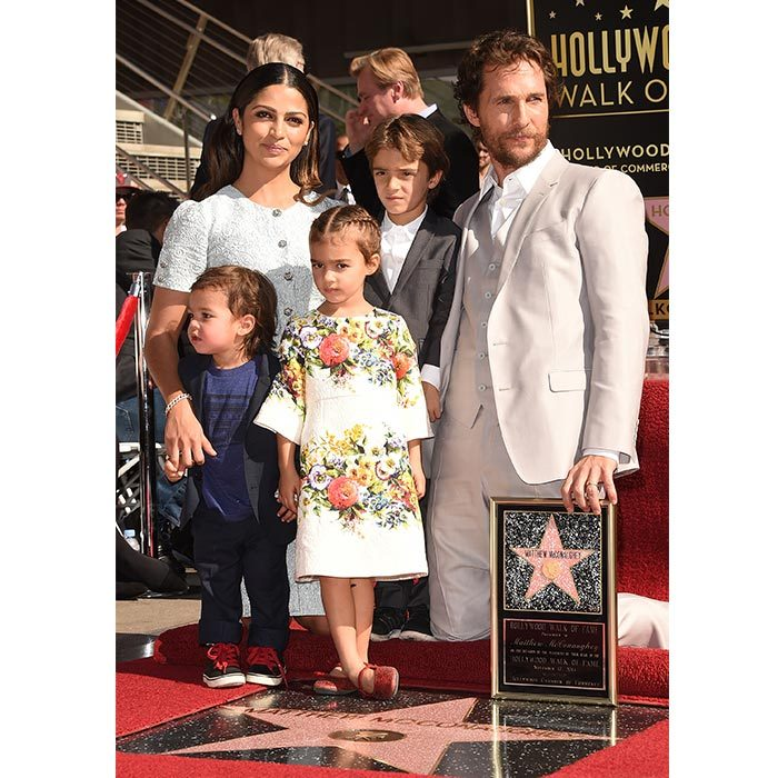 Matthew had wife Camila and their three children by his side when he received his star on the Hollywood Walk of Fame in 2014.
