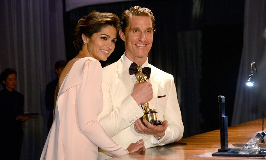 Matthew had his number one fan with him when he scored his first Oscar in 2014. 