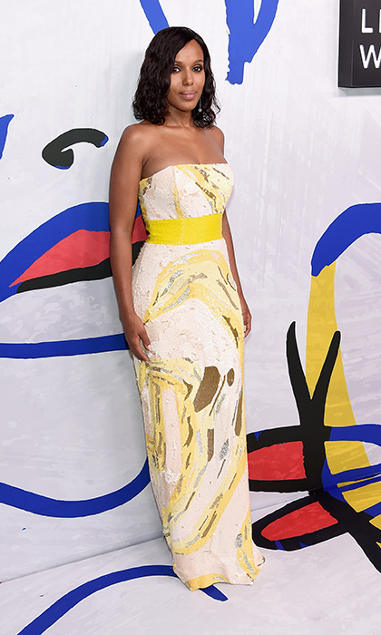 Kerry Washington wore a custom Atelier Prabal Gurung gown and Atelier Swarovski Fine Jewelry.