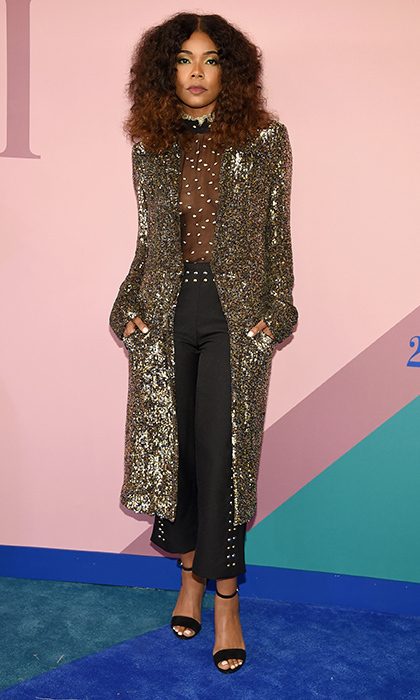 Gabrielle Union rocked this glam look by Rodarte.