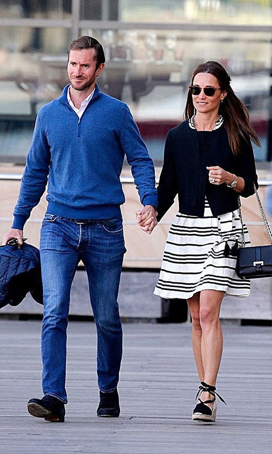 Pippa Middleton and James Matthews heading out for an elegant lunch in Sydney