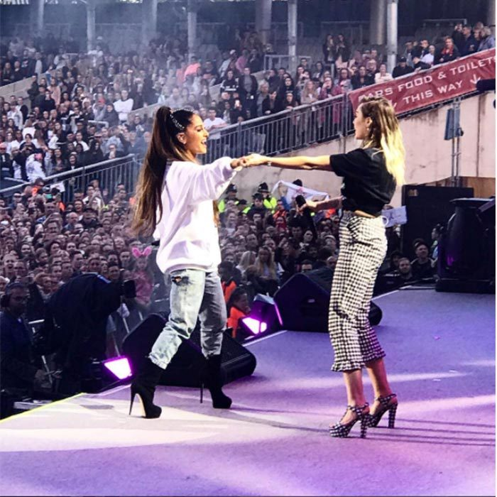 <h2>Ariana Grande + Miley Cyrus</h2>