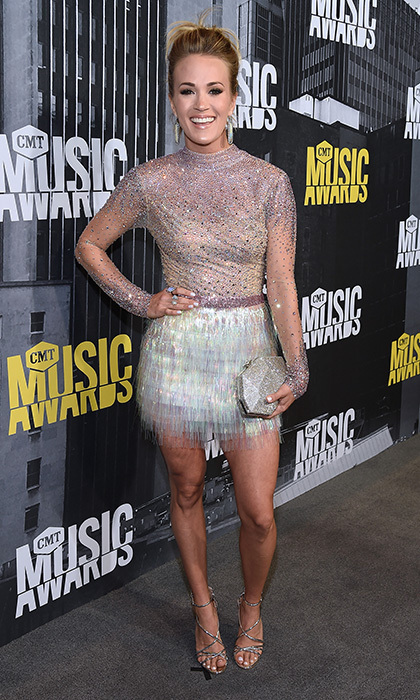 Carrie Underwood had some serious shimmer at the 2017 CMT Music Awards at the Music City Centre on June 7 in Nashville, Tennessee. 