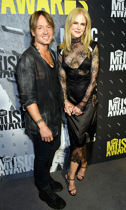 Keith Urban and Nicole Kidman both kept it classic in black at the 2017 CMT Music Awards.