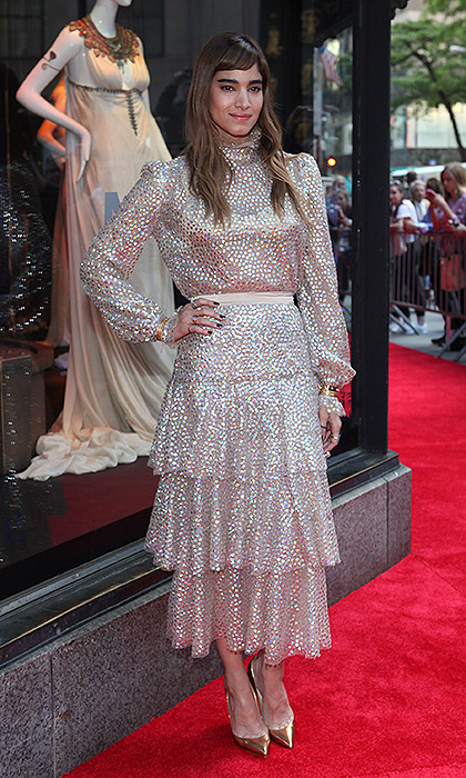 <em>The Mummy</em> star Sofia Boutella stepped out for the unveiling of the Saks Fifth Avenue's window display dedicated to the film in New York City.