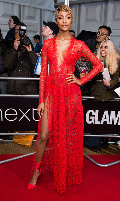 Jourdan Dunn was the night's lady in red at the Glamour Women of the Year Awards 2017 in London.