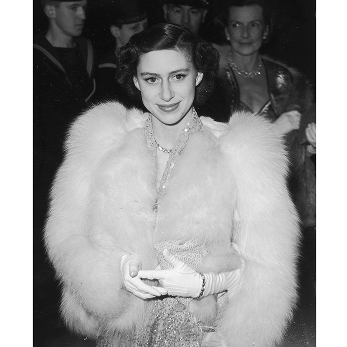 "Queen Elizabeth's late sister Princess Margaret, seen here in sequins and fur in 1951, was a true trendsetter in her heyday. Curator of the Fashion Rules exhibition at Kensington Palace Cassie Davies-Strodder told Grazia: ""Margaret was a distinctive fashion icon because she was so glamorous – with all the beauty of a Hollywood film star, she brought a new kind of style of the Royal Family."" Princess Margaret's style has been rediscovered by a new generation thanks to her oh-so-cool character on Netflix series <em>The Crown</em>.