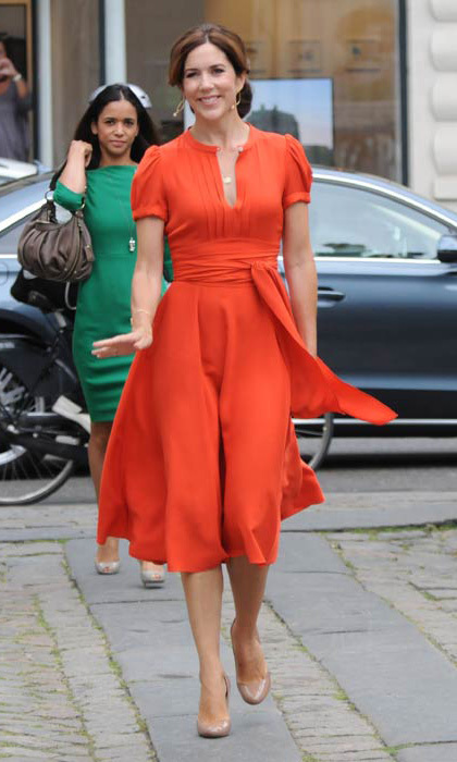 Princess Mary of Denmark is known for her love of high-end labels and often rivals the Duchess of Cambridge on royal best-dressed lists.