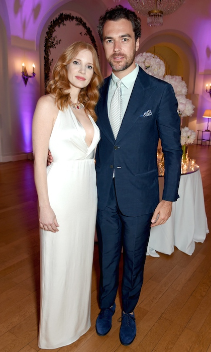 <h3>Jessica Chastain and Gian Luca Passi de Preposulo</h3>