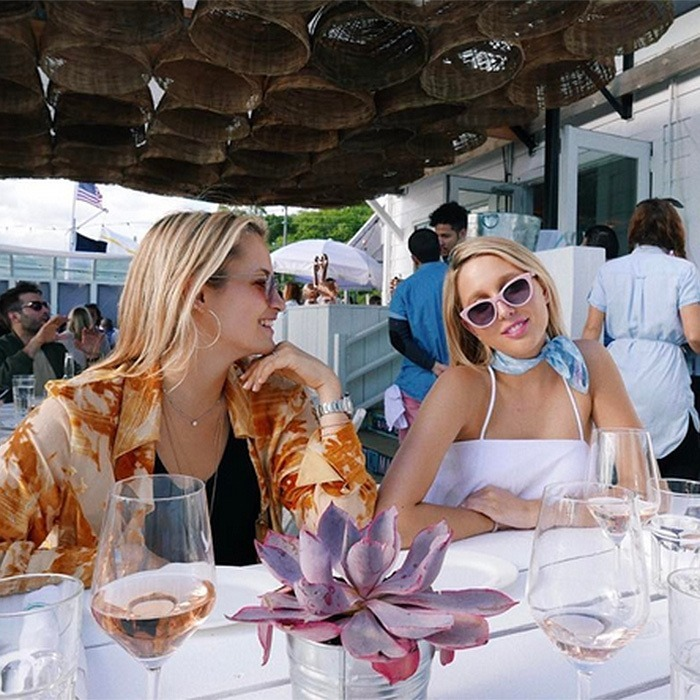 Princess Olympia of Greece looks ready for the summer! The royal, right, joined pals in the Hamptons at Surf Lodge in Montauk. 