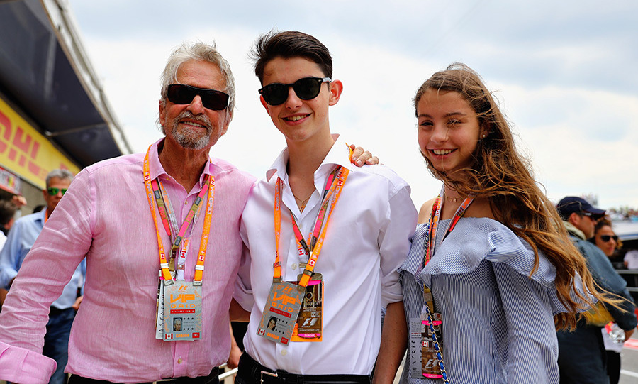 Michael Douglas and children Carys and Dylan attend Canadian Grand Prix in Montreal.