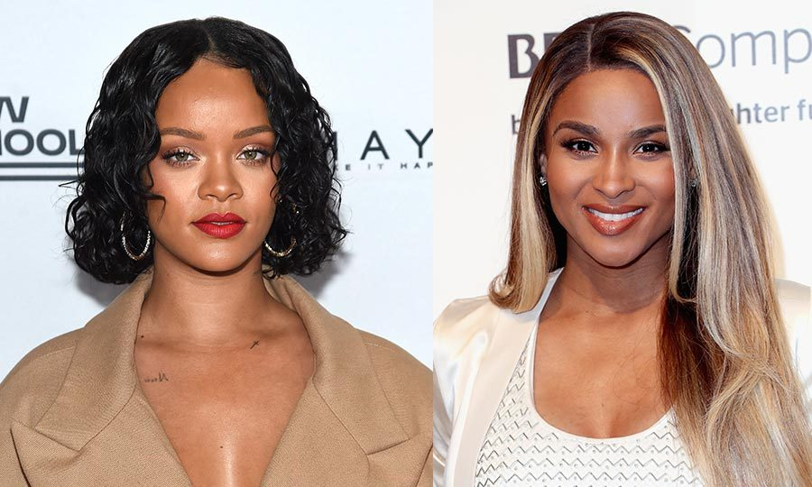 <h2>Rihanna and Ciara</h2>